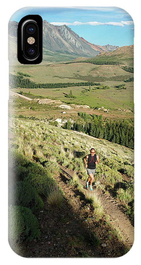 35-39 Years IPhone X Case featuring the photograph Running In Esquel, Chubut, Argentina by Marcos Ferro