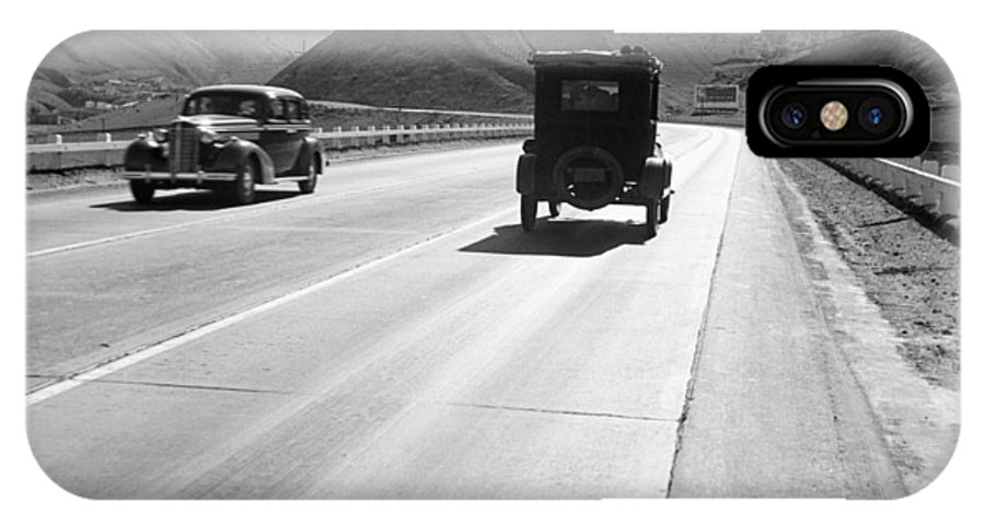 1939 IPhone X Case featuring the photograph Rural Highway, 1939 by Granger