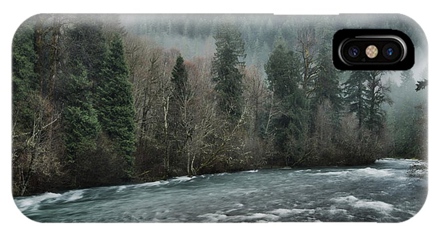 Mckenzie River IPhone X Case featuring the photograph Rushing Mckenzie River by Don Schwartz