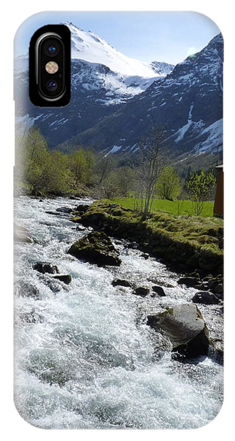 IPhone X Case featuring the photograph Rushing Stream by Katerina Naumenko