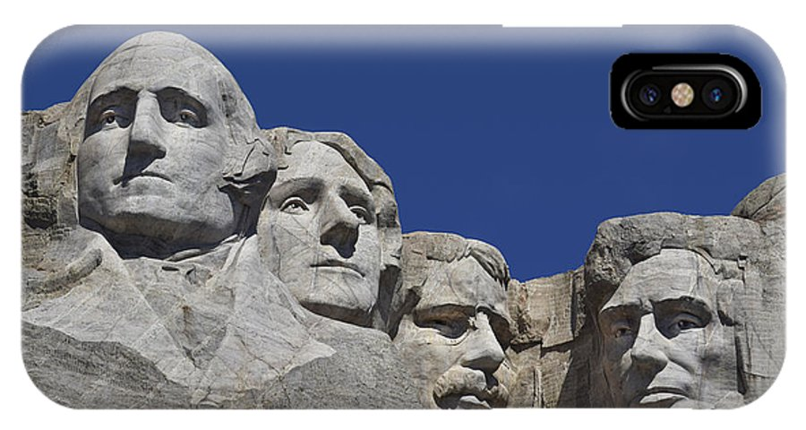 Fab Four IPhone X Case featuring the photograph Rushmore by Skip Hunt