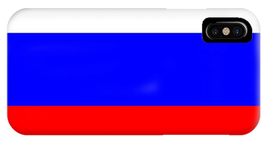 Russia IPhone X Case featuring the digital art Russia Flag by Frederick Holiday