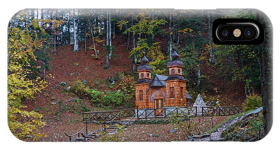 Russian Road IPhone X Case featuring the photograph Russian Chapel - Vrsic Pass - Slovenia by Phil Banks