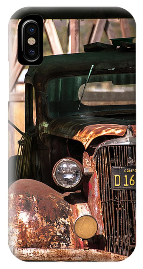 Rust IPhone X Case featuring the photograph Rusted by David Pinsent