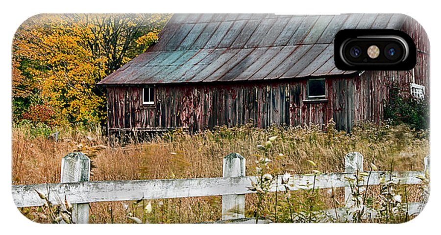 Old Barn IPhone X Case featuring the photograph Rustic Berkshire Barn by John Vose