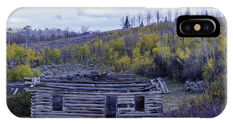 Cabin IPhone X Case featuring the photograph Rustic Cabin by Carolyn Fox
