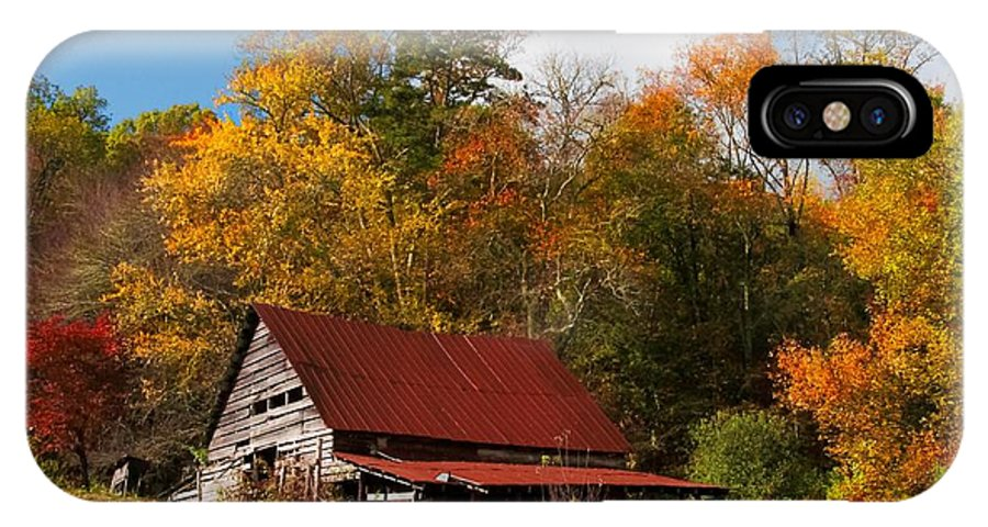 Barn IPhone X Case featuring the photograph Rustic Charm by Lynn Bauer