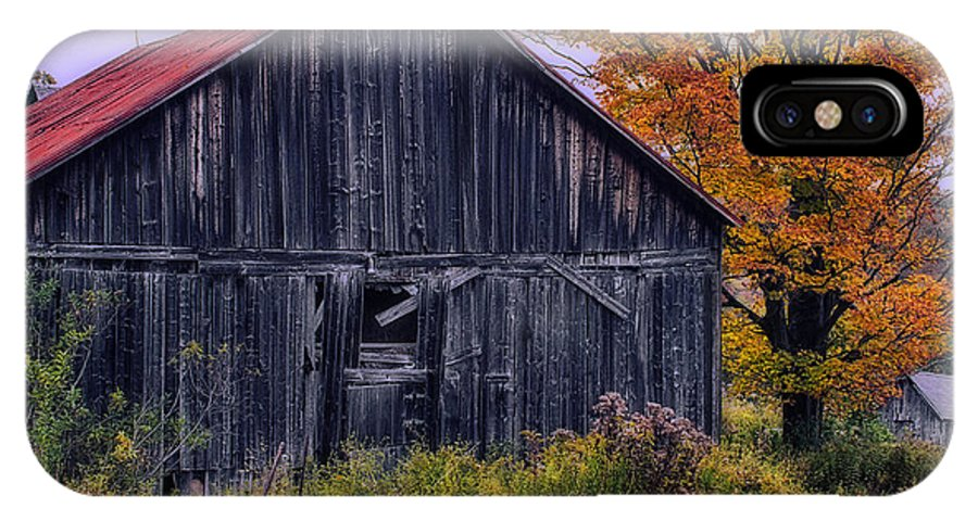 Vermont IPhone X Case featuring the photograph Rustic Vermont Barn by John Vose