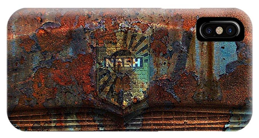 Rust IPhone X Case featuring the digital art Rusty Nash by Greg Sharpe