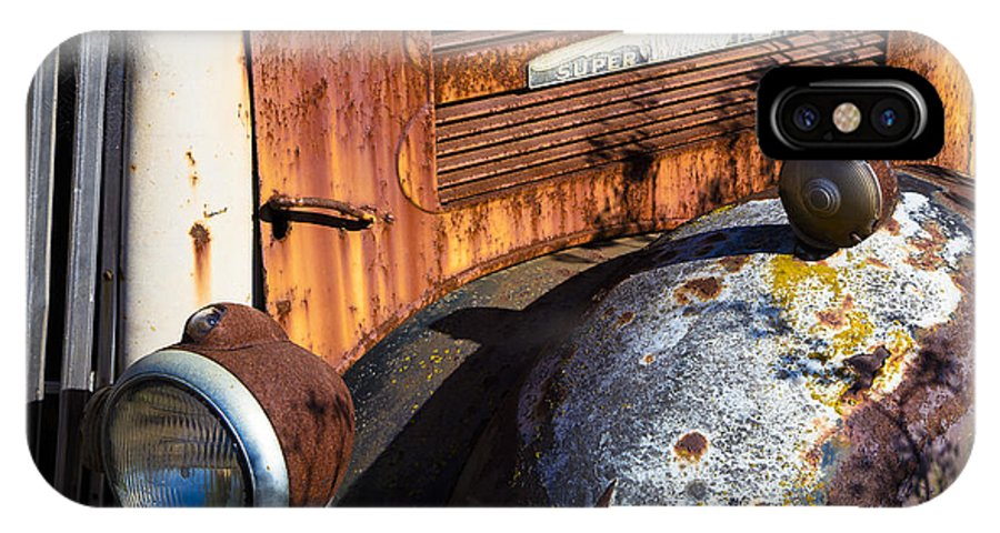 Super White Truck IPhone X Case featuring the photograph Rusty Truck Detail by Garry Gay