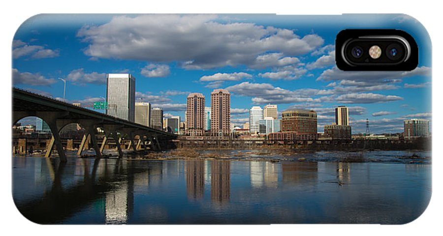 Rva IPhone X Case featuring the photograph Rva Cityscape by Stacy Abbott