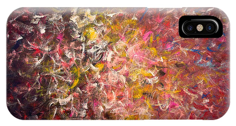 Derek Kaplan Art IPhone X Case featuring the painting Rythm Of Life by Derek Kaplan