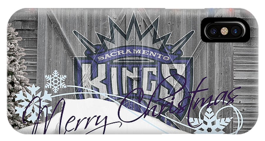 Kings IPhone X Case featuring the photograph Sacramento Kings by Joe Hamilton