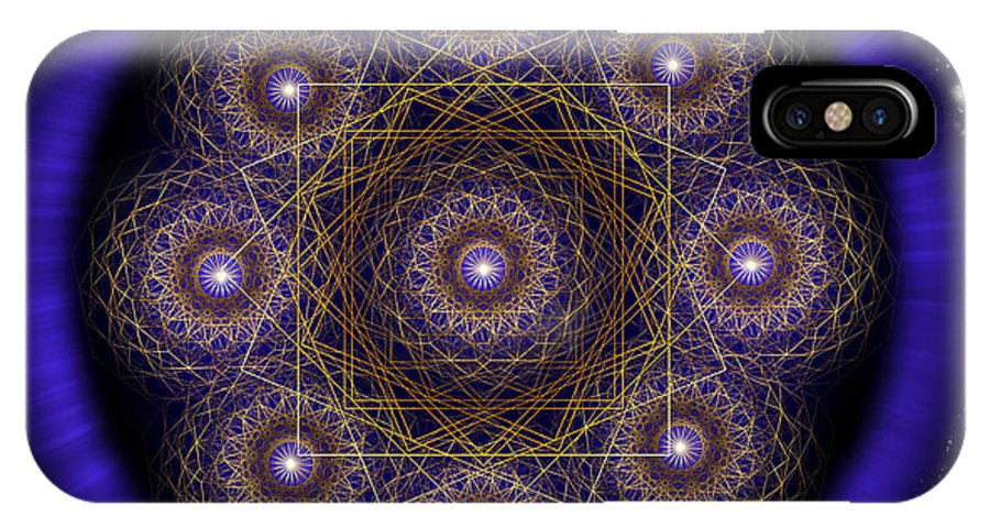 Endre IPhone X Case featuring the digital art Sacred Geometry 218 by Endre Balogh