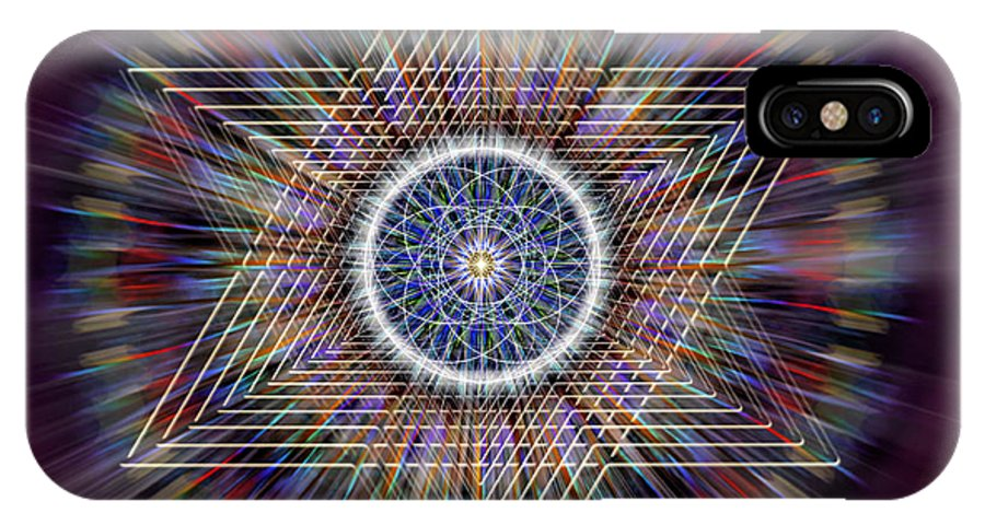 Endre IPhone X Case featuring the digital art Sacred Geometry 317 by Endre Balogh