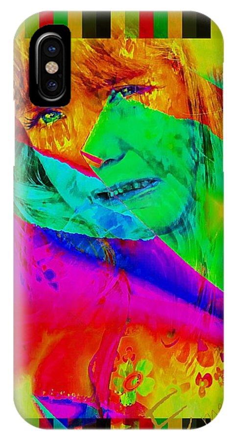 Sad Fairy IPhone X Case featuring the photograph Sad Fairy by Ernestine Manowarda