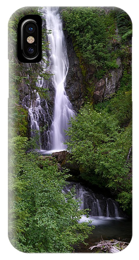 Sahale Falls IPhone X Case featuring the photograph Sahale Falls In Oregon by Jackie Follett