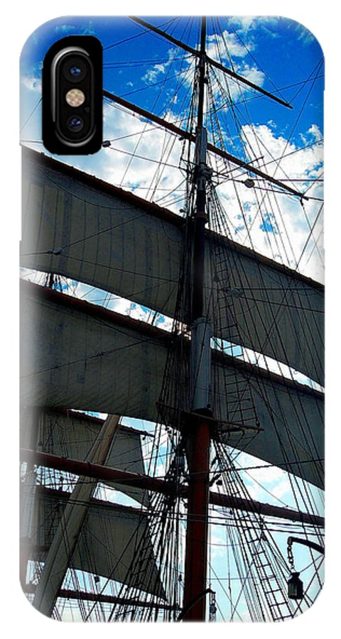 Sail IPhone X Case featuring the photograph Sail Away by Dan Vallo