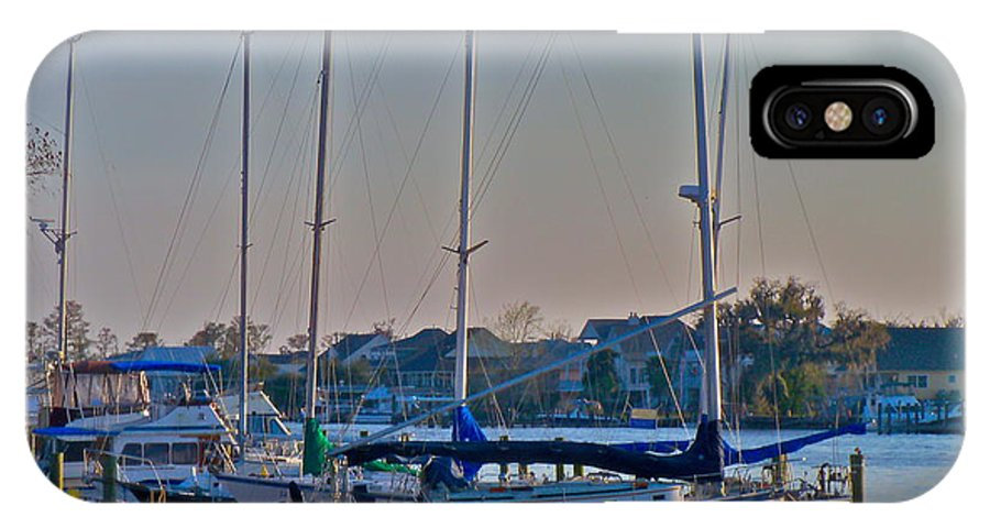 Sailboat IPhone X Case featuring the photograph Sailboat At Sunset by Dana Doyle