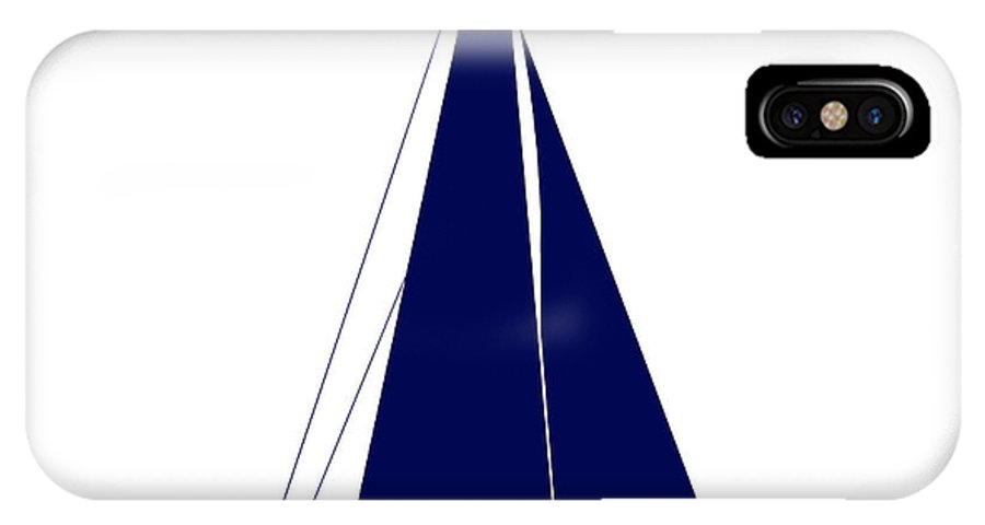 Graphic Art IPhone X Case featuring the photograph Sailboat In Navy And White by Jackie Farnsworth