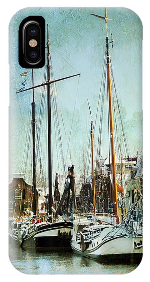 Sailboat IPhone X Case featuring the photograph Sailboats by Annie Snel