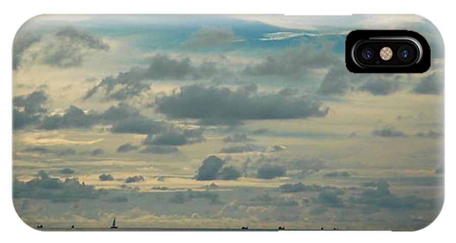 Sailboats IPhone X Case featuring the photograph Sailboats In The Distance by Marc Levine