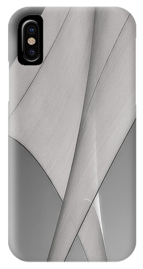 Abstract IPhone X Case featuring the photograph Sailcloth Abstract Number 3 by Bob Orsillo