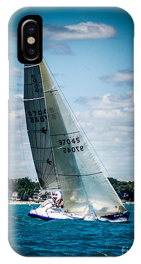Sailboat IPhone X Case featuring the photograph Sailing 97045 by Ronald Grogan