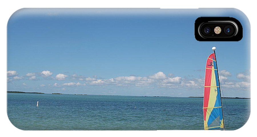 Sailing IPhone X Case featuring the photograph Sailing At Key Largo by Christiane Schulze Art And Photography