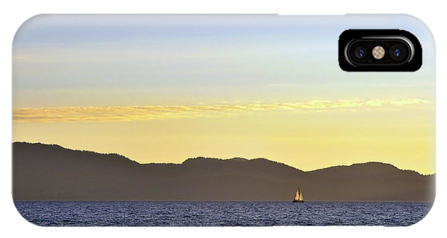 Sail IPhone X Case featuring the photograph Sailing At Sunset - Lake Tahoe by John Waclo