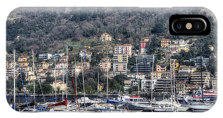 Lake Como IPhone X Case featuring the photograph Sailing Boats by Roni Chastain