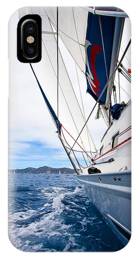 3scape IPhone X Case featuring the photograph Sailing Bvi by Adam Romanowicz