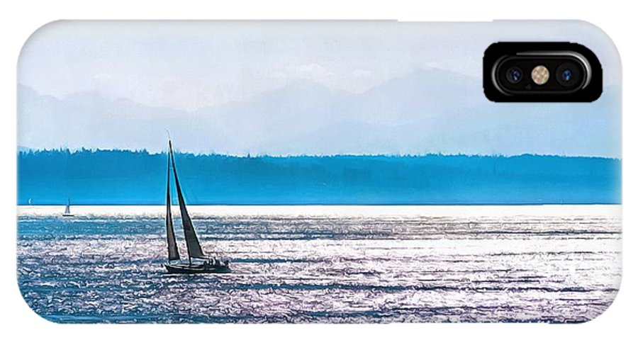 Sailing IPhone X Case featuring the photograph Sailing by CarolLMiller Photography