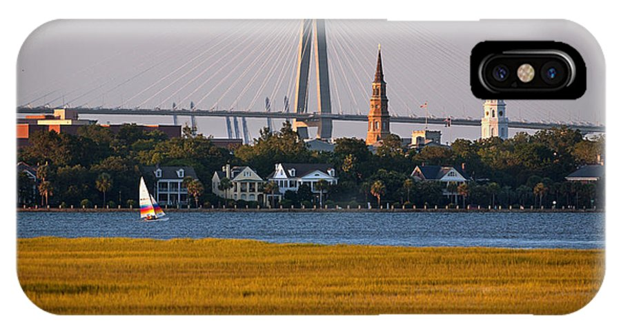 Charleston IPhone X Case featuring the photograph Sailing Charleston by Mic Smith
