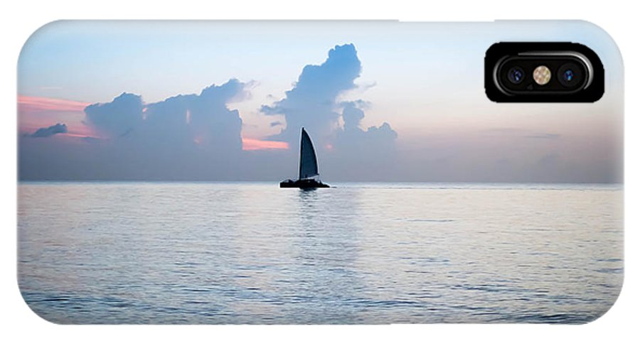 Sailing Canvas Prints IPhone X Case featuring the photograph Sailing Daybreak by Louis Ferreira