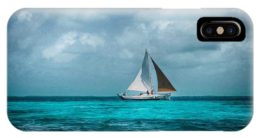 Sailing Tote Bag IPhone X Case featuring the photograph Sailing In Blue Belize by Kristina Deane