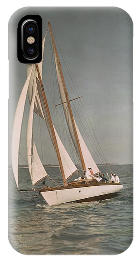 Sailboats IPhone X / XS Case featuring the photograph Sailing, One Of The Many Sports by J. Baylor Roberts