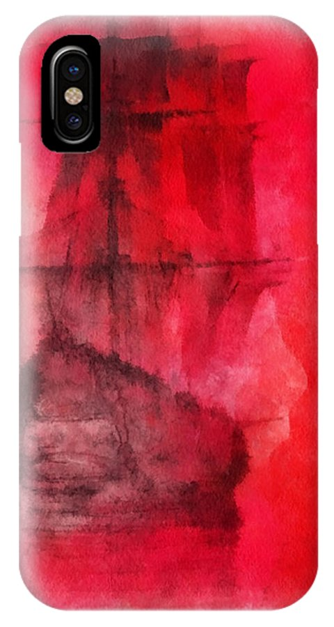 Nautical IPhone X Case featuring the photograph Sailor Take Warning Photo Art 01 by Thomas Woolworth