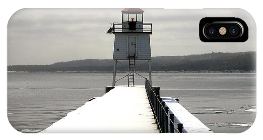 Lighthouse IPhone X Case featuring the photograph Sailor's Signal by Bryan Benson