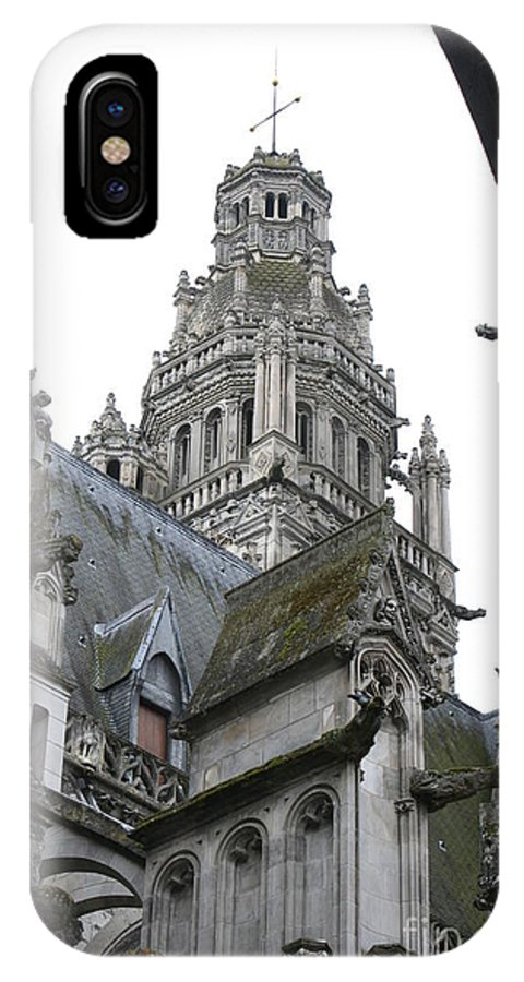 Cathedral IPhone X Case featuring the photograph Saint Gatien's Cathedral Steeple by Christiane Schulze Art And Photography