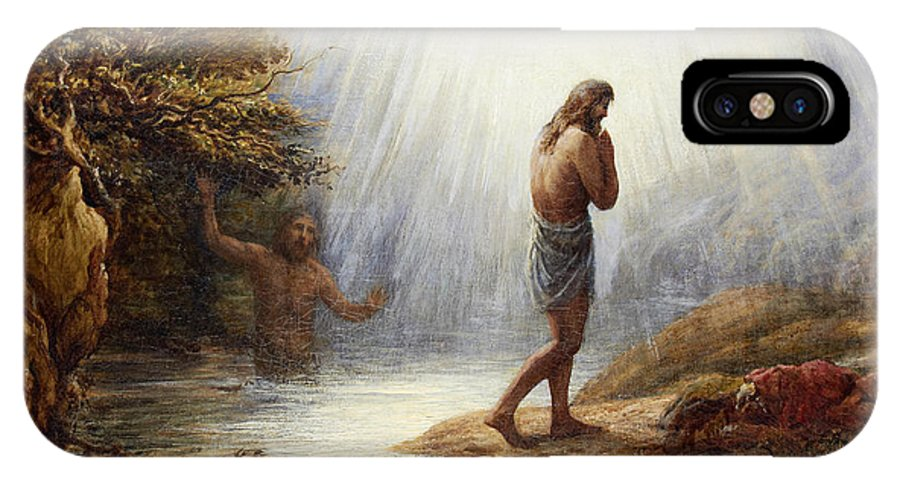 John Linnell IPhone X Case featuring the painting Saint John The Baptist by John Linnell