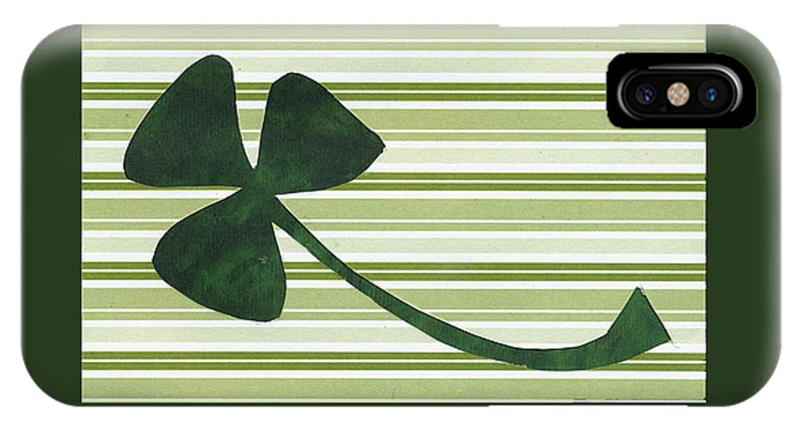 Shamrocks IPhone X Case featuring the mixed media Saint Patricks Day Collage Number 18 by Ellen Miffitt