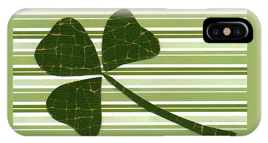 Shamrocks IPhone X / XS Case featuring the mixed media Saint Patricks Day Collage Number 5 by Ellen Miffitt