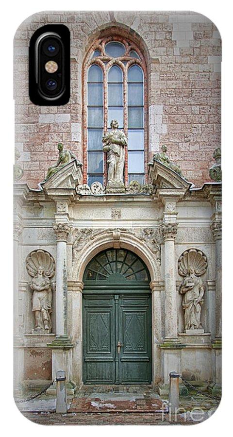 Door IPhone X / XS Case featuring the photograph Saint Peters Doorway by Antony McAulay