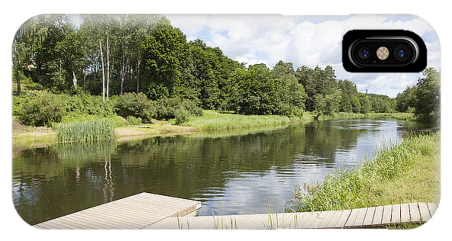 Saint IPhone X Case featuring the photograph Saint River by Ramunas Bruzas