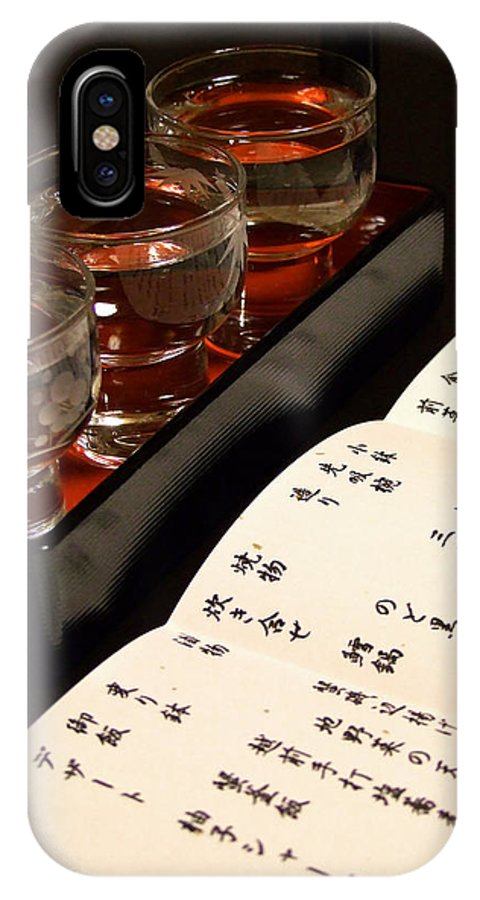 Sake IPhone X Case featuring the photograph Sake Delight by Larry Knipfing
