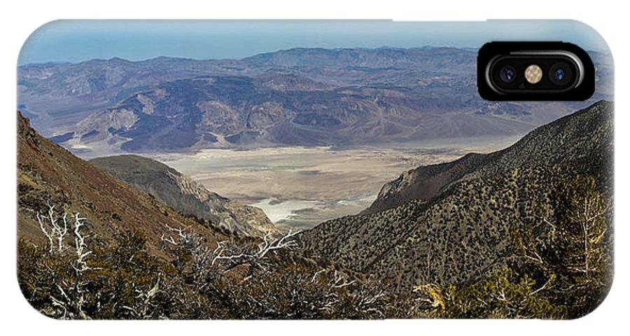 Landscape IPhone X Case featuring the photograph Saline Valley Panorama by David Salter