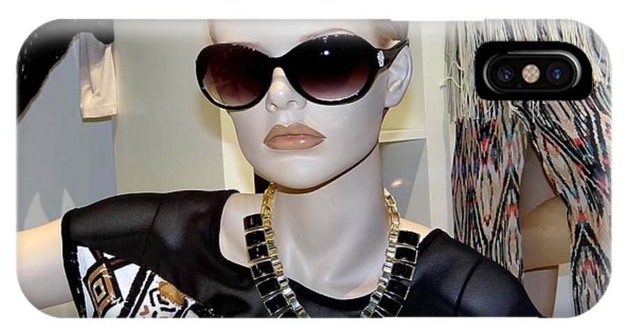 Mannequins IPhone X Case featuring the photograph Sally In Shades by Ed Weidman