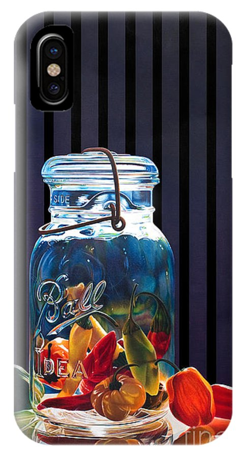 Still Life IPhone X Case featuring the painting Salsa by Arlene Steinberg