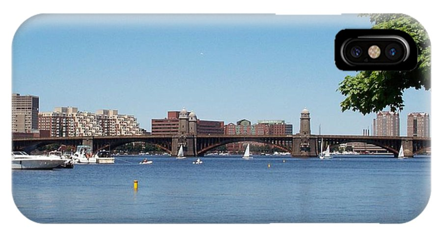 longfellow Bridge IPhone Case featuring the photograph Salt And Pepper Bridge by Barbara McDevitt